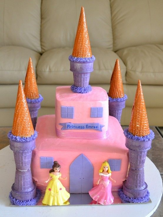 Princess Castle cake by kathie
