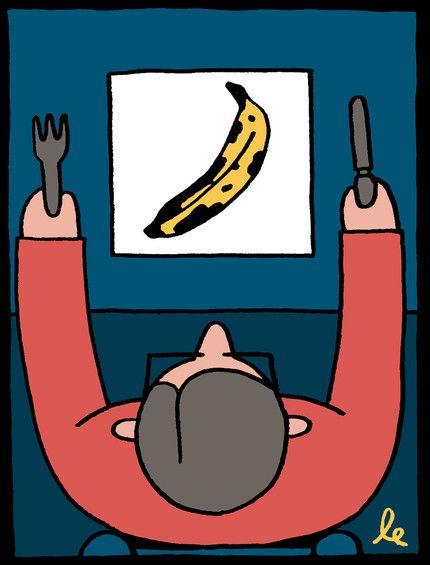 Léon Edler - illustration for the Observer Food Monthly  Tiphaine-illustration  #editorialillustration #banana #wahrol #food
