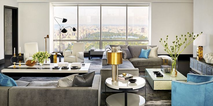 House Tour: Michael Bloomberg's Favorite Designer Gives a Central Park Apartment Some Edge - ELLEDecor.com