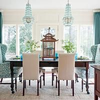 open floor plan orange creme and turquoise | Turquoise Dining Room - Eclectic - dining room - Glidden Seven Lakes ...