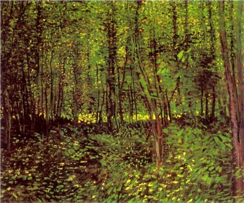 Trees and Undergrowth - Vincent van Gogh 1887, Paris oil on canvas Van Gogh Museum, Amsterdam