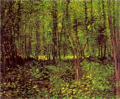 Trees and Undergrowth - Vincent van Gogh 1887, Paris oil on canvas Van Gogh Museum, Amsterdam
