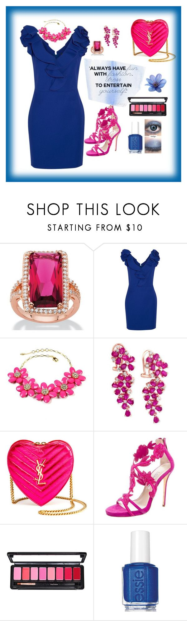 """Bez naslova #3"" by di-kah ❤ liked on Polyvore featuring Lanvin, Amrita Singh, Effy Jewelry, Yves Saint Laurent, Oscar de la Renta and Essie"