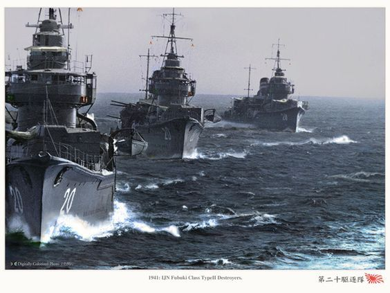 Japanese destroyers