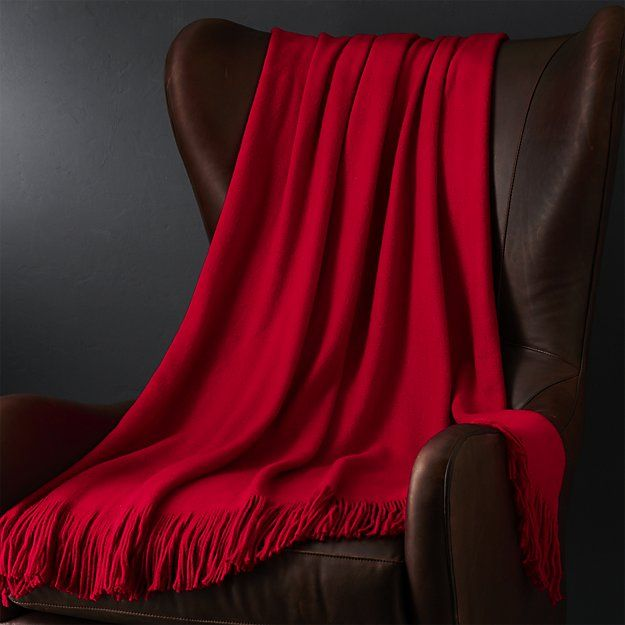 Tidings Red Throw | Crate and Barrel