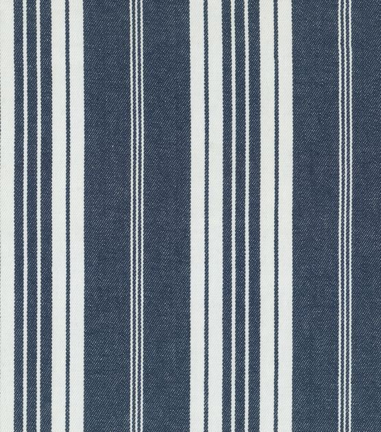 55'' WideContent: 100% CottonRepeat: 0''V x 4.88''H Home Decor Upholstery Fabric-Waverly Boot Cut Stripe / Blue Jean   $49.99 on sale $24.99