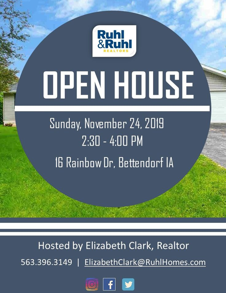 Open House Today from 2304PM 16 Rainbow Dr, Bettendorf