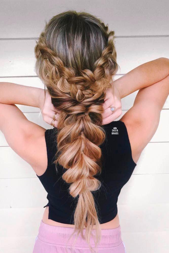 Gorgeous And Easy Hairstyles For Long Hair Picture3 Peinados Con Trenzas Elegantes Peinados Con Trenzas Peinados Boda Pelo Largo