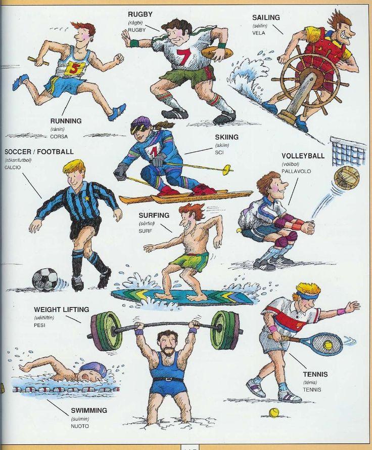 Learning Italian Language ~ Parole Inglesi Per Piccoli e Grandi - #Illustrated #dictionary - #sports 2