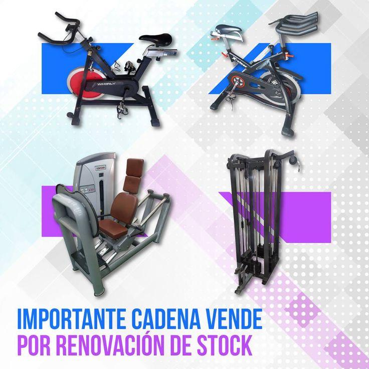 Por #renovación de #stock IMPORTANTE CADENA DE #GIMNASIOS VENDE #USADOS, EN EXCELENTE ESTADO: • 151 #Bicicletas de Indoor, marcas #BH y #Whirly. • 45 #Máquinas de #musculación. • 15 #Bancos.  Informes por email a americansport@speedy.com.ar o por teléfono al (011) 4982-0889  También pueden ver la info en www.fitnessmarketing.com.ar/venta-equipos/mail.html