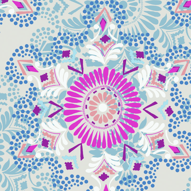 Kaleidoscope – A rush of colours in this display of vibrant complexity  www.lilyandmeclothing.com