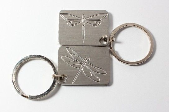 Dragonfly stainless steel key chain made by www.vermontcnc.com
