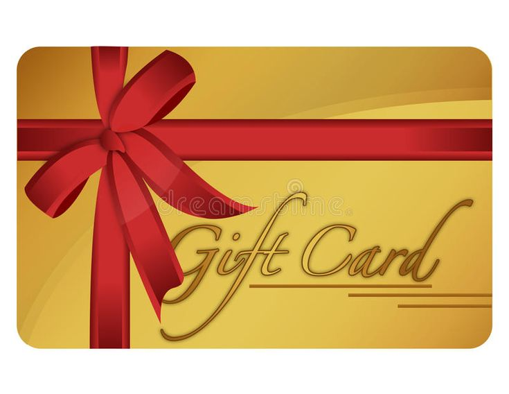 Gift card gold generic gift card vector file available