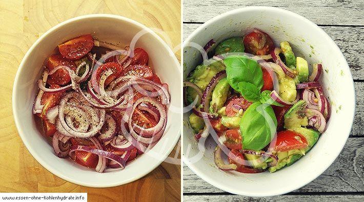 Leckerer Avocado-Tomatensalat