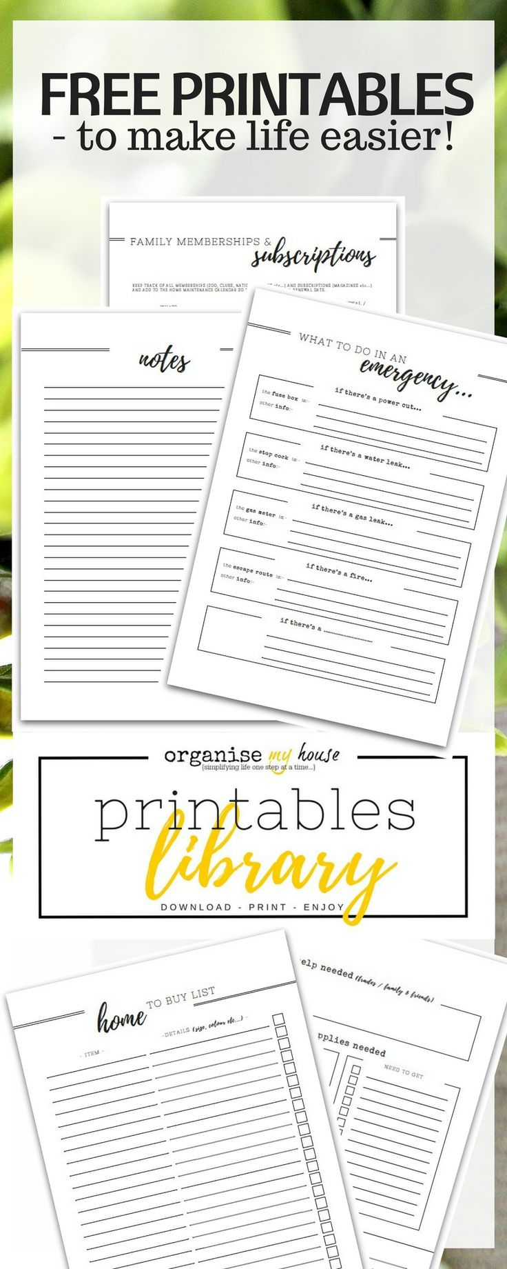 I am LOVING these printables - there's something for every part of life to get more organised and make things easier. It's also added to a lot so you need to check back often! Grab free printables right now....