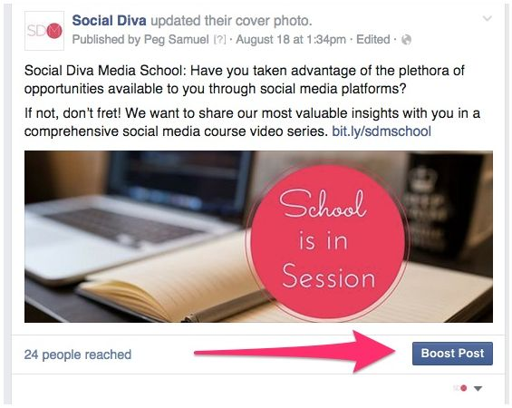 "Here's a quick guide to using Facebook's ""Boost post"" option to increase your…"