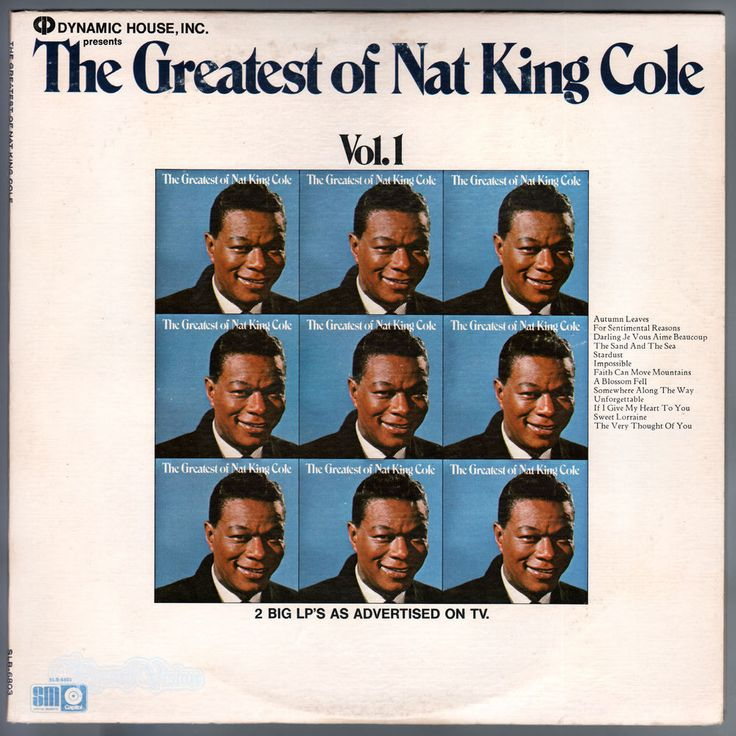 """Nat King Cole - """"The Greatest Hits of Nat King Cole, Vol. 1"""""""