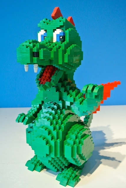 how to make a lego dragon from scratch