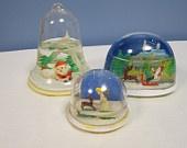 70s snow globes
