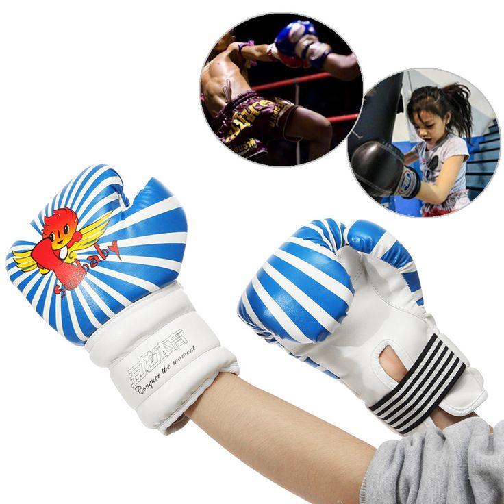 6oz Niños guantes de boxeo Punch Sand Bag Guantes de protección Sparring mano