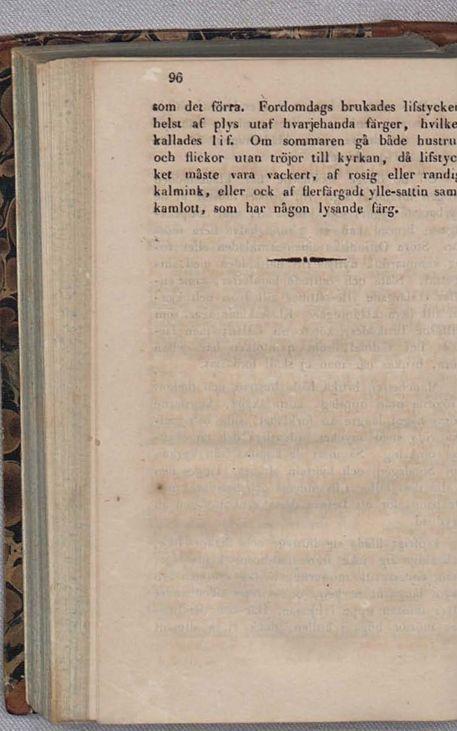 Petrus Gaslander om klädedräkten i Västbo hd och Södra Unnaryds sn.
