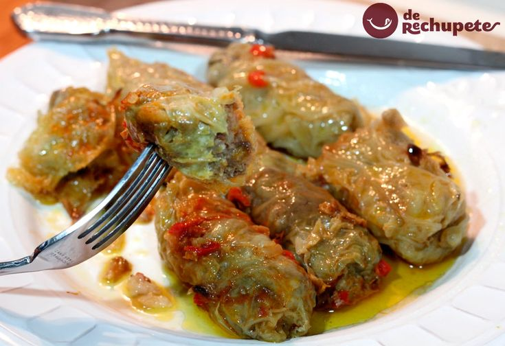 Sarmale o Rollitos de carne con hojas de repollo. Receta típica rumana - Recetasderechupete.com