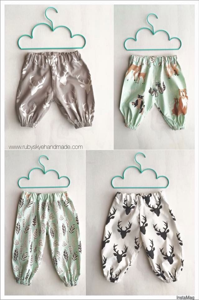 Made using the Pattern Emporium Baby Harem Pants pdf pattern