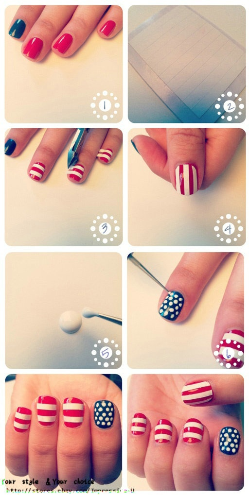 69 best diy 4th of july nails images on pinterest 4th of july of july nails ladies find this pin and more on diy 4th solutioingenieria Images