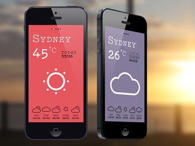 A Quick Weather Mobile App UI Design