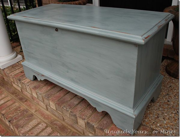 Update Old Cedar Chest with Gray Chalk Paint. ASCP Paris Gray or French Linen.