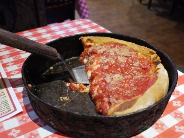 Chicago-style deep dish pizza. Recipe claims to be from Gino's East...we shall see!