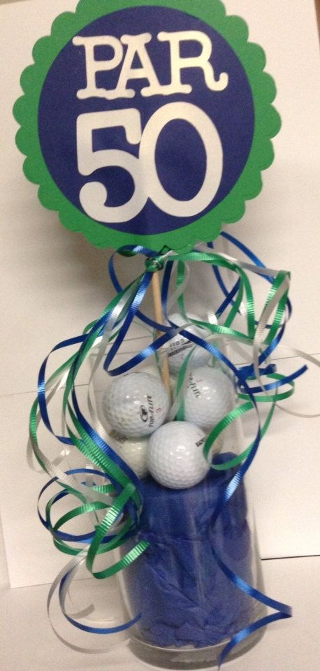50th Birthday Centerpiece Signs Golf Theme Party by FromBeths