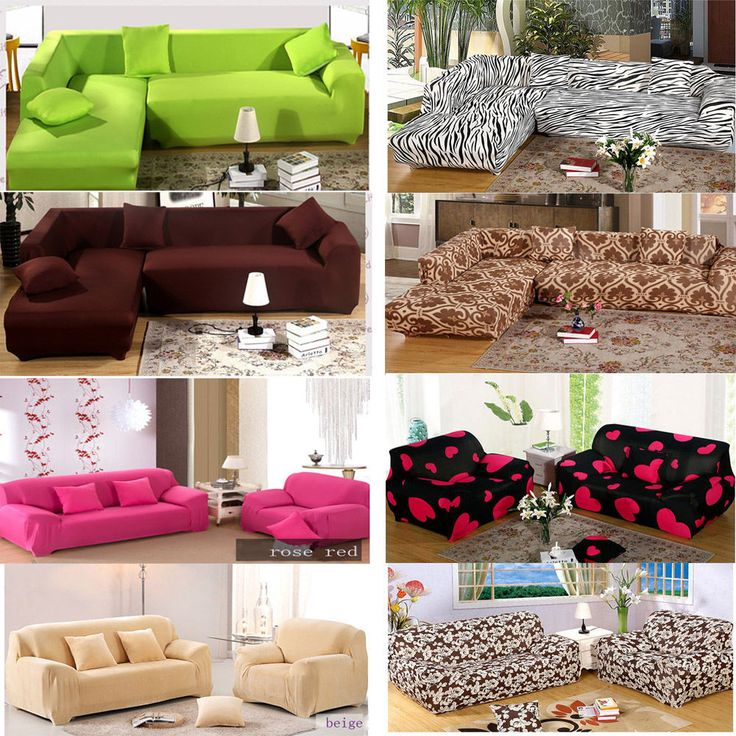 20 Styles Colorful Stretch Elastic Sofa Couch Slip Covers For 1 2 3 Seater  #Unbranded