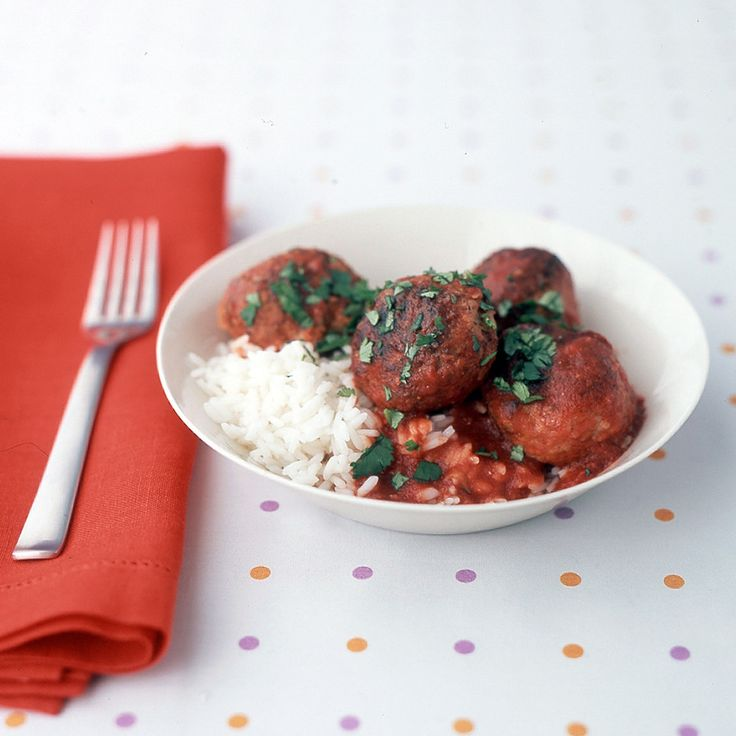 Albondigas, the Spanish word for meatballs, is also the name of this traditional dish in which they are simmered in a spicy tomato sauce.