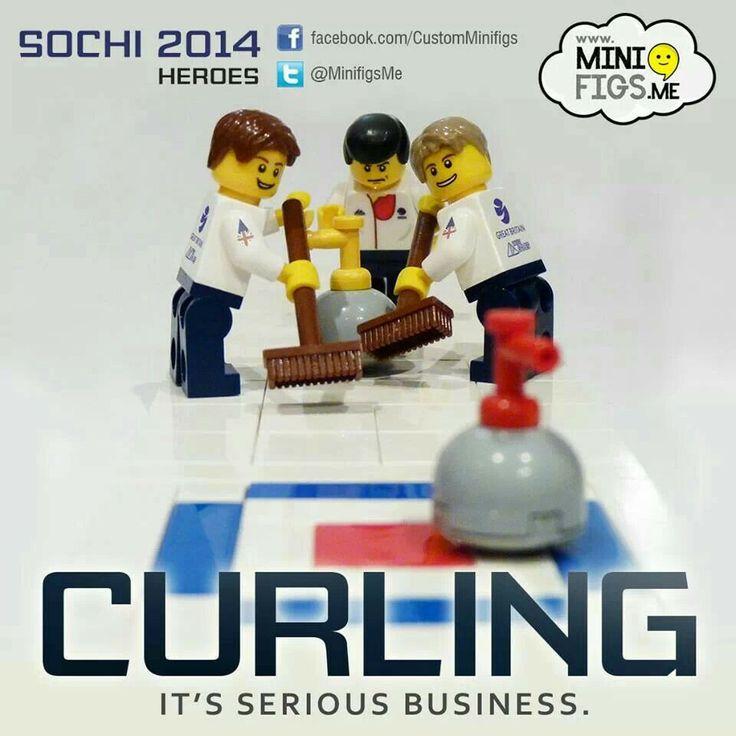 Team GB curling team Lego minifigs