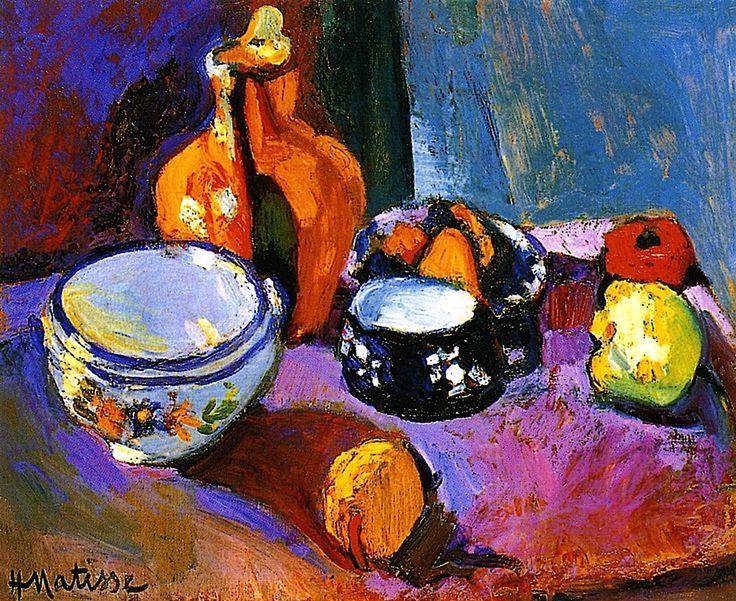 Dishes and Fruit / Henri Matisse - circa 1901