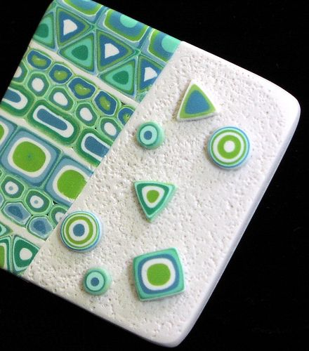OceanPin | Polymer clay extruded canework | Lyn Huecker | Flickr