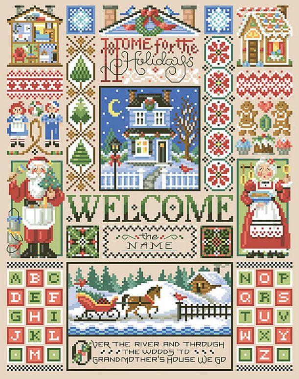 cross-stitch-pdf-pattern-home-for-the-holidays-sampler-from-kooler-design-studio-3.jpg 611×776 pixels