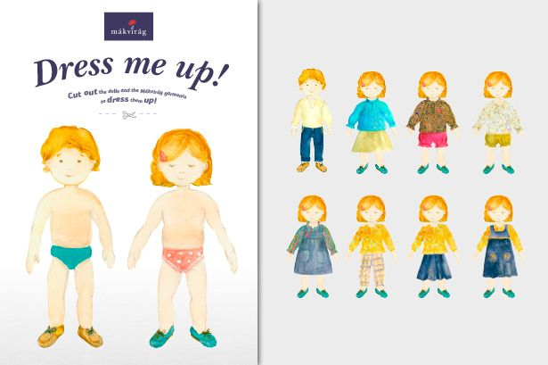 Mákvirág — Printable Paper Dolls