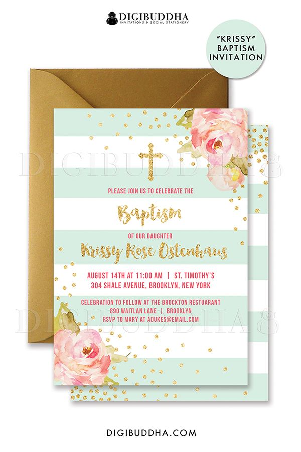 61 best Digibuddha Baptism Invitations images on Pinterest