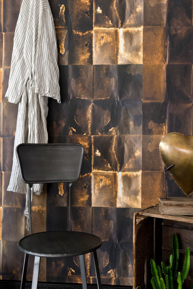 Shibui Copper wallpaper, Metallic wallpaper, Mind the gap