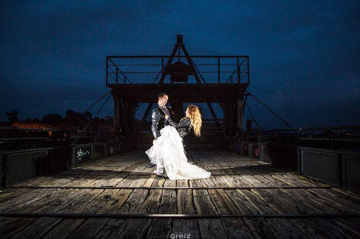 Una #fotografía de las post #boda de una pareja #original #divertida y fuera de lo común. #Cantabria #gentegreiz #bodas2015