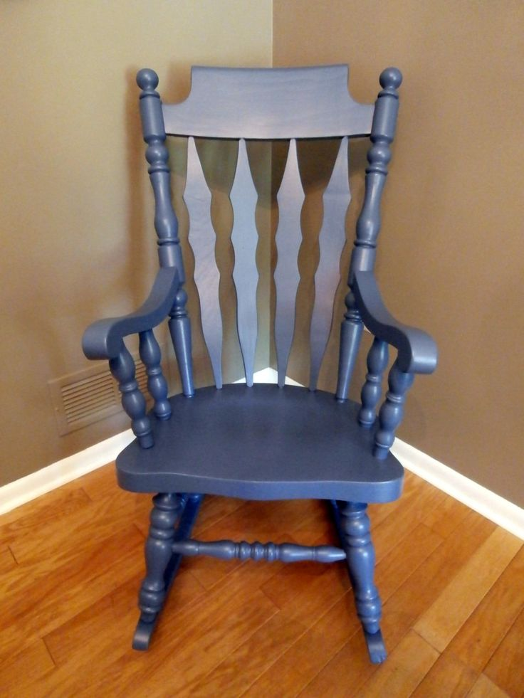 Good Refinished Blue Rocking Chair By RootsWingsFurniture On Etsy, $125.00