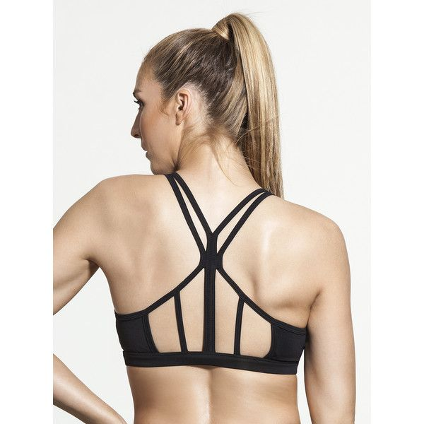 CARBON38 Catalyst Bralette (4,250 INR) ❤ liked on Polyvore featuring intimates, bras, strap bra, strappy cami, cami bra, camisole bra and strappy bras