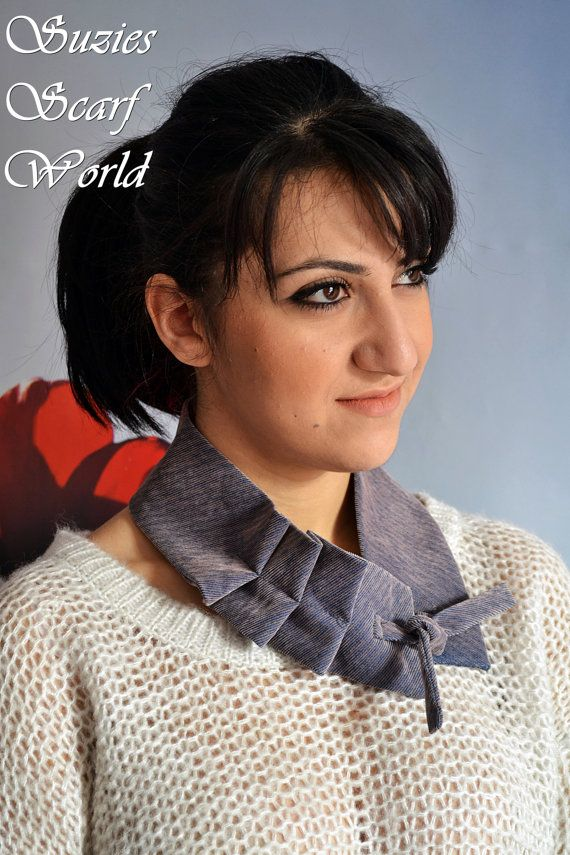 GreyPurple Womens Scarf / Neckwarmer Velvet by SuziesScarfWorld, €21.00