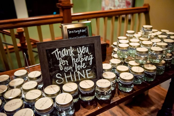 Moonshine as wedding favors!