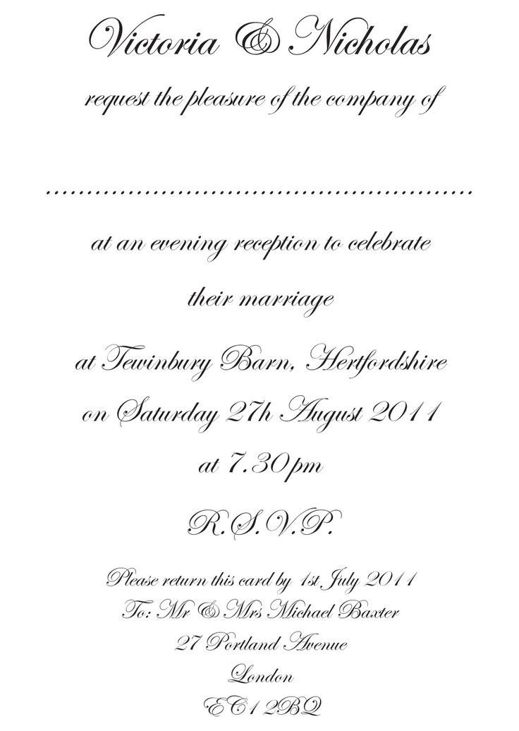 The  Best Formal Invitation Wording Ideas On