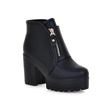 [XmasSale]Women's Shoes Fashion Boots Chunky Heel Ankle Boots More Colors available – USD $ 34.99