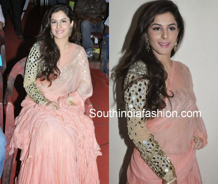 Isha Talwar in Full Sleeves Mirror Work Blouse