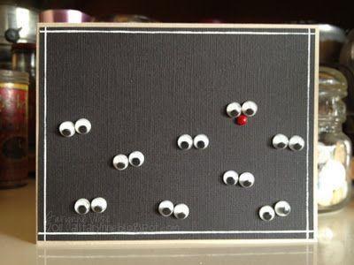 Skapeglede: Gavelapper eller julekort. Humor. Moro. Hvor er Rudolf? DIY